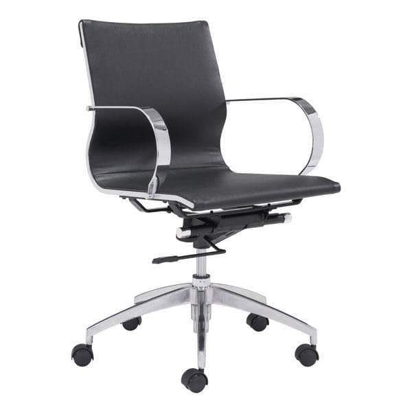 Zuo Modern Office Chair Black Glider Low Back Office Chair