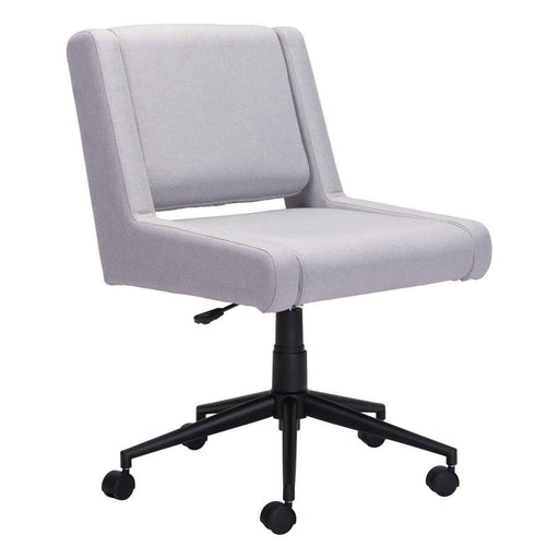 Zuo Modern Office Chair Brix Office Chair Light Grey