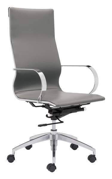 Zuo Modern Office Chair Grey Glider High Back Office Chair