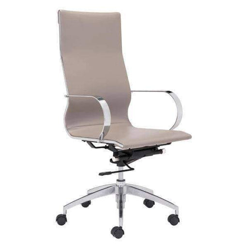 Zuo Modern Office Chair Taupe Glider High Back Office Chair