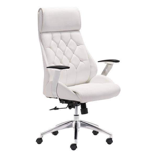 Zuo Modern Office Chair White Boutique Office Chair