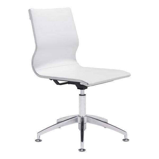 Zuo Modern Office Chair White Glider Conference Chair