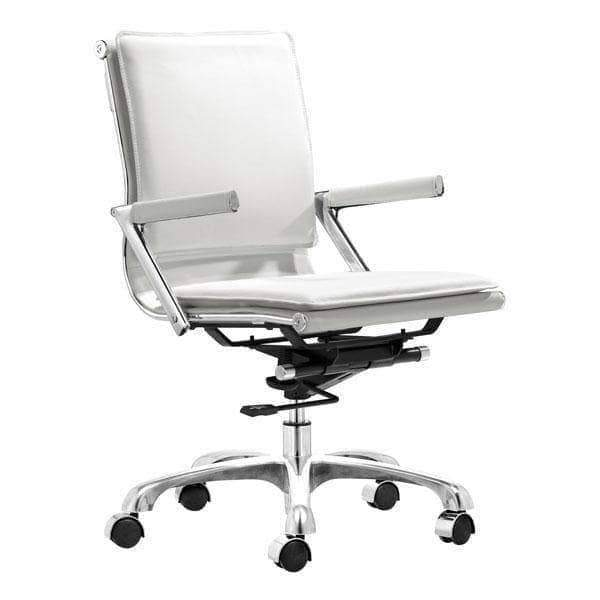 Zuo Modern Office Chair White Lider Plus Office Chair