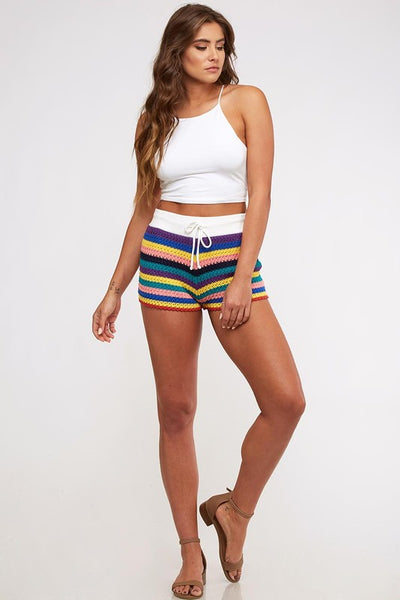 Rainbow Color Knit Short