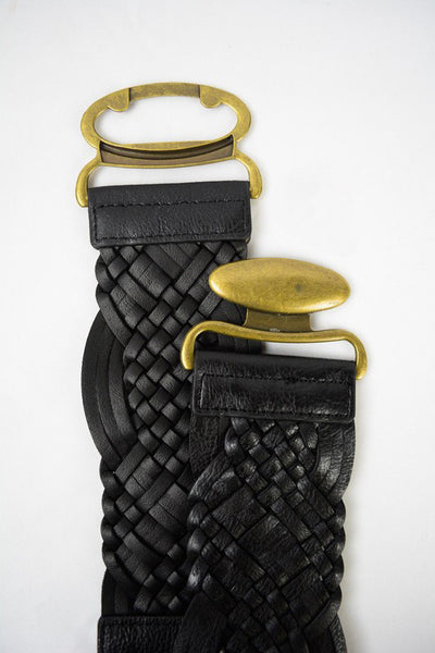 Braided Antique Buckle Belt