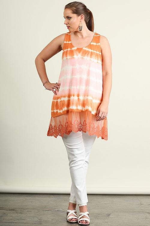 Peach Sleeveless Tunic