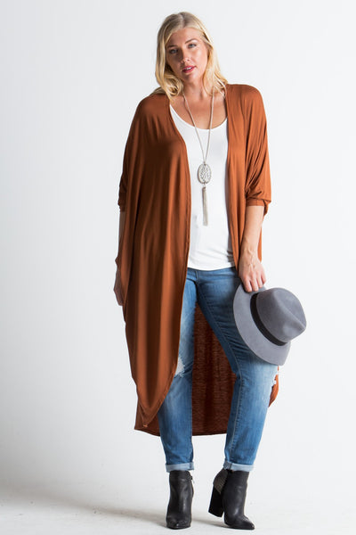 Autumn Open Plus Cardigan