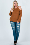 Curvy Cold Shoulder Sweater