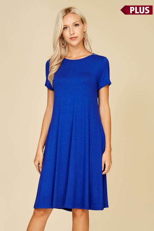 Royal Blue Midlength Dress