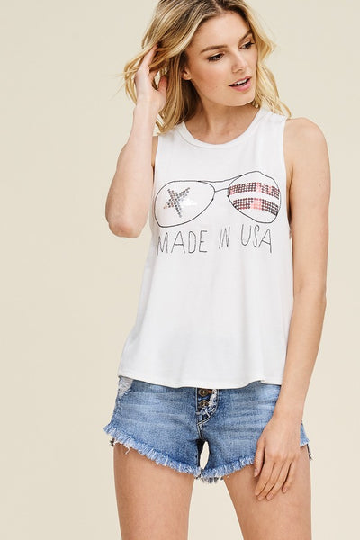 Sequin Too Cool Sleeveless Top