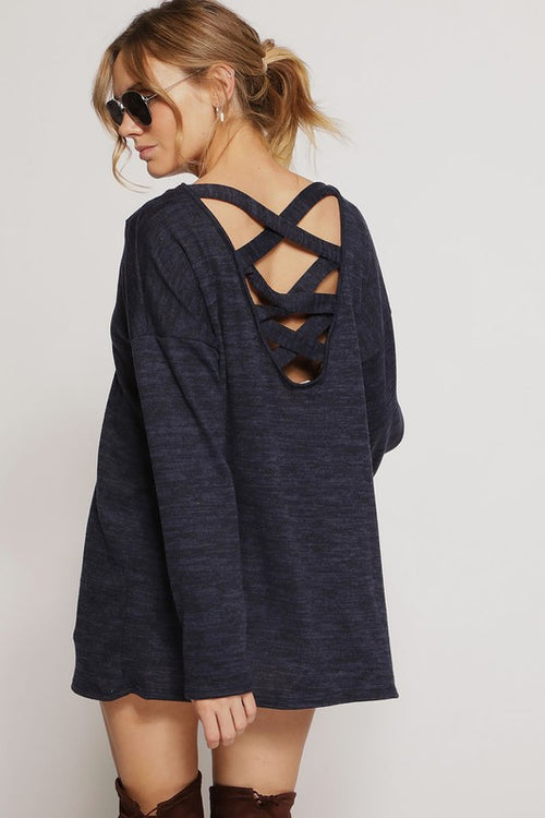 Caged Back Hacci Top