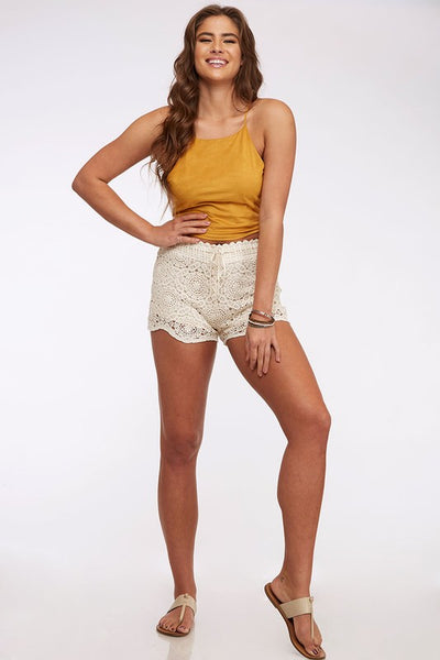 Crochet Mesh Lace Shorts
