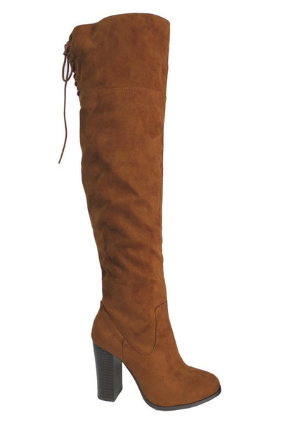 Tan Back Lace Boots