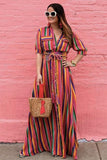 Maxi Rainbow Stripe Dress