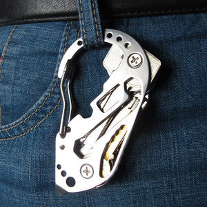 Brand New EDC Keychain / Multitool / Survival Carabiner - Stainless Steel