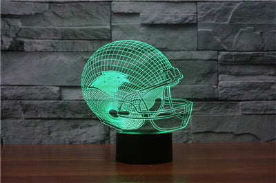 LED New England Patriots/Green Bay Packers/chicago bears Rugby Team Neon Light Signs 3D Football Helmet Visual Lamp Home Decor