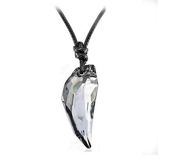 BRAND NEW Austrian Wolf Tooth Pendant / Necklace - Crystal