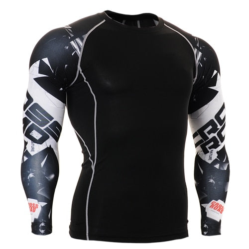 Life on Track mens t shirt base layer for American football skull 3d printing long sleeve