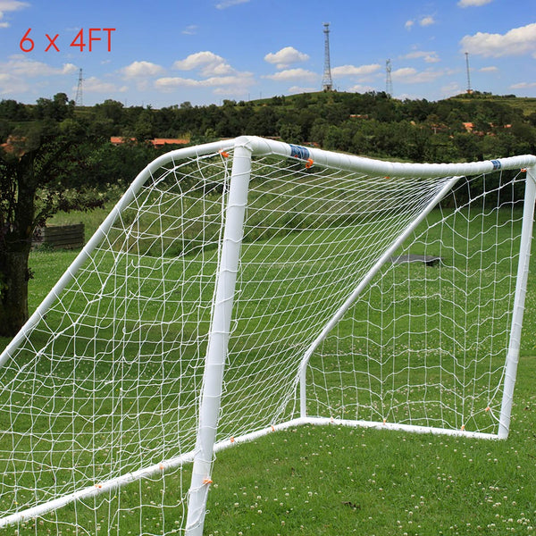 Hotsale Brand Full Size 6 x 4FT Football Soccer Goal Post Net 1.8m x 1.2m Sports Match Training Junior Polypropylene Fiber Net