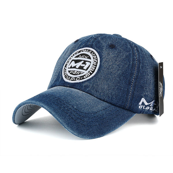 New arrival high quality snapback cap demin baseball cap 5 color Jean badge embroidery hat for men women boy girl cap B346