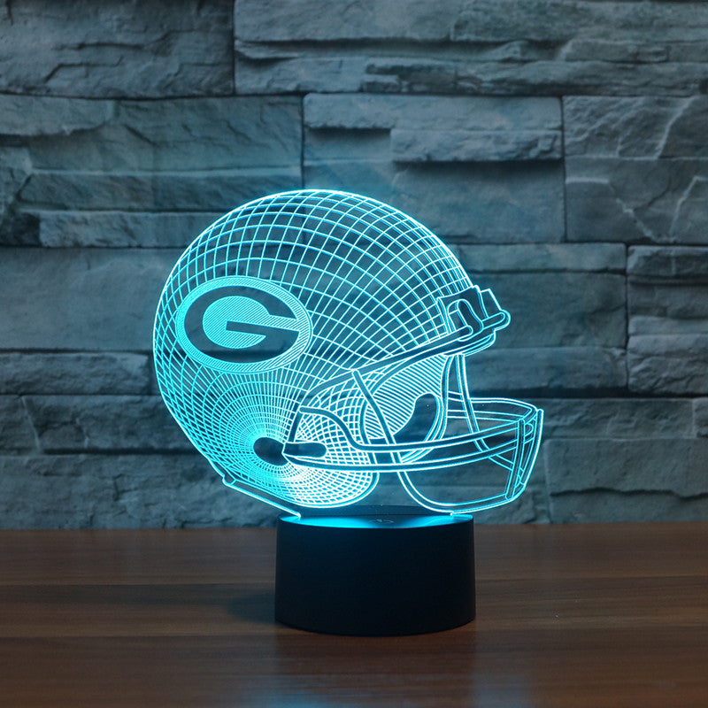 Xmas NFL Green Bay Packers Colorful 3D Color Changing Decor Light LED Table Lamp Night light Drop Ship
