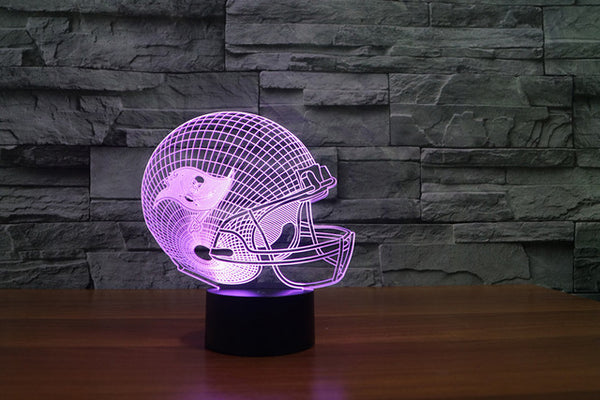 Xmas NFL Team Collection Tampa Bay Buccaneers New York Giants Seattle Seahawks 3D Light LED Table Lamp Night light Drop Ship