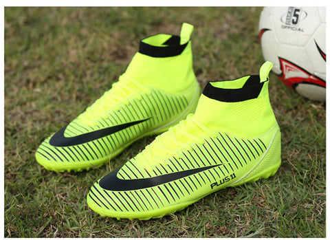 Professional Adults Men's Outdoor Soccer Cleats Ankle Top TF/FG Soccer Football Boots Trainers Sports Sneakers Shoes EU38--44