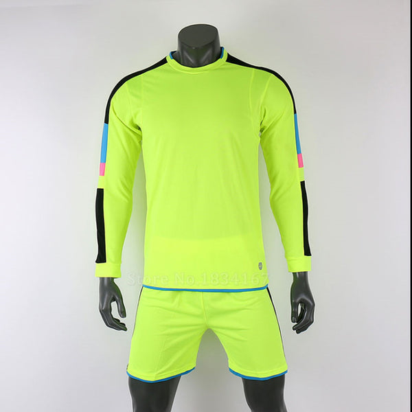 Survetement football 2017 soccer jerseys men custom football jerseys long Sleeve goalkeeper uniforms men football set suit