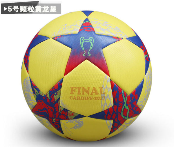 genuine seamless professional soccer ball standard Size 5 PU leather training football for children and adults 7 colors