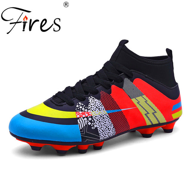 Fires Brand Soccer Boots\Shoes Sports For Man Indoor Football shoes\Boot size 35-45 Eur 3 Color PU Boy Sneakers Men chuteiras