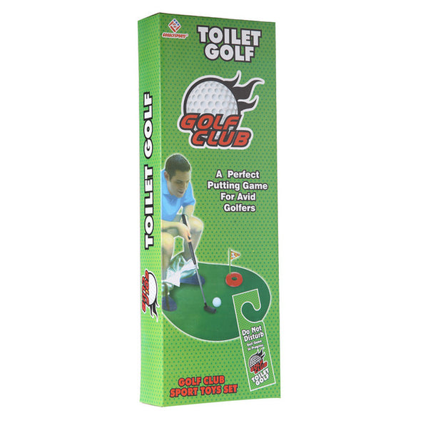 Potty Putter Toilet Golf Game Mini Golf Set Toilet Golf Putting Green Funny Novelty Game For Men and Women golf accessories