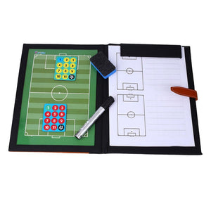Sports Folding Magenet Piece Football Coach Board Plate Tactics Book Set w/Pen