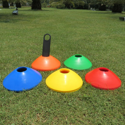 10pcs/lot 200*200*50mm Football Training Cones Marker Discs Soccer High Quality Sports Saucer Entertainment Sports Accessories