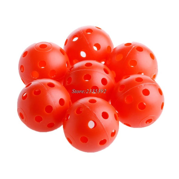 50x Durable Plastic Airflow Hollow Perforated Golf Practice Training Balls Light