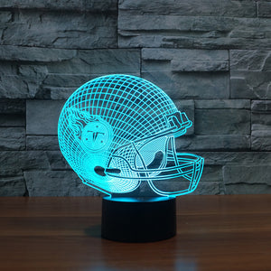 2016 new football Titans 3D Tennessee light colorful touch creative LED lamp