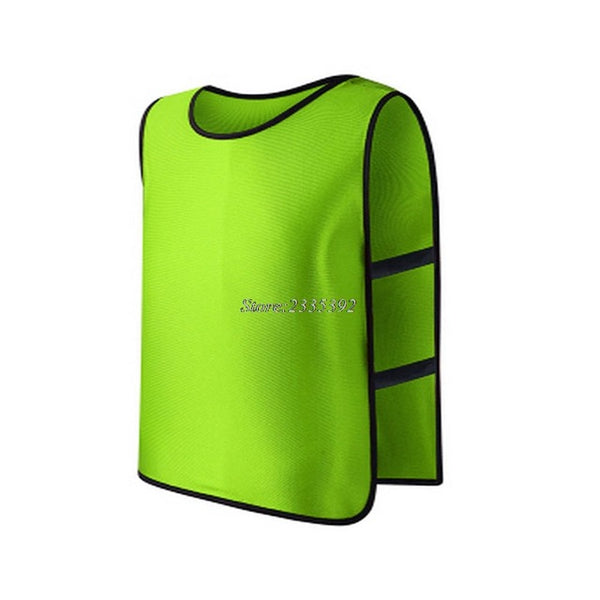 Children Kid Team Sports Football Soccer Training Pinnies Jerseys Train Bib Vest