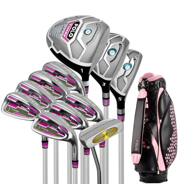 Golf Brand POLO. 11 pieces Ladies golf clubs women golf irons clubs complete full set