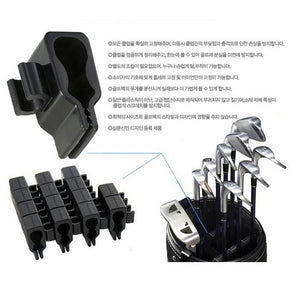 14 Golf Bag Putter Clip On Clamp Holder Stand Organizer Club Aid Tool Accessory