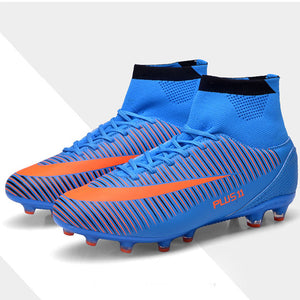 Kids Boy Girls Outdoor Soccer Cleats Shoes TF/FG Ankle Top Football Boots Soccer Training Sneakers Child Sports Shoes EU32--38