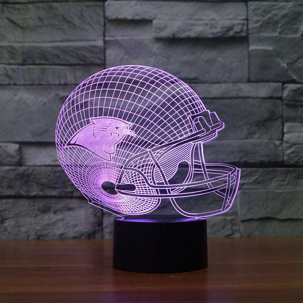 NFL Logo Collection Carolina Panthers Chicago Bears Baltimore Ravens Sport Team 3D Color Changing Light Free drop shipping