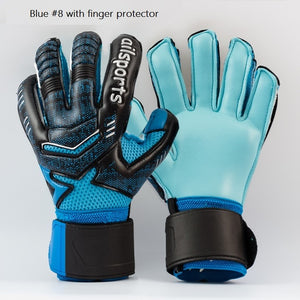 Professional Thicken Breathable Non-slip latex Football Goalkeeper Gloves Goalie Soccer Finger Bone Protection Guard Gloves