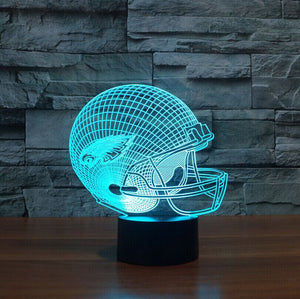 Illusion 3D LED NFL Sport Shape USB Table lamp Touch 7 Colors Philadelphia Eagles Lampara Desk Lamp For Children Kids Night Lamp