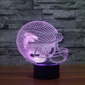 7 Colors Illusion 3D LED NFL Sport Shape USB Table lamp Touch Atlanta Falcons Lampara Desk Lamp For Children Kid Gift Nightlight