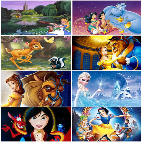 FULL 5D DIY Diamond Painting Cross Stitch kit cartoon picture Gifts Round Diamond Embroidery mosaic pattern Home Decor