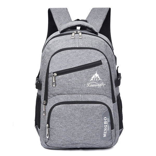 Brand New Grey Nylon Unisex Backpack – Laptop Pocket, Phone Pocket And More!