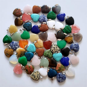 BRAND NEW Assorted Natural Stone Charms – 50 Pc. Jewelry Maker's Special