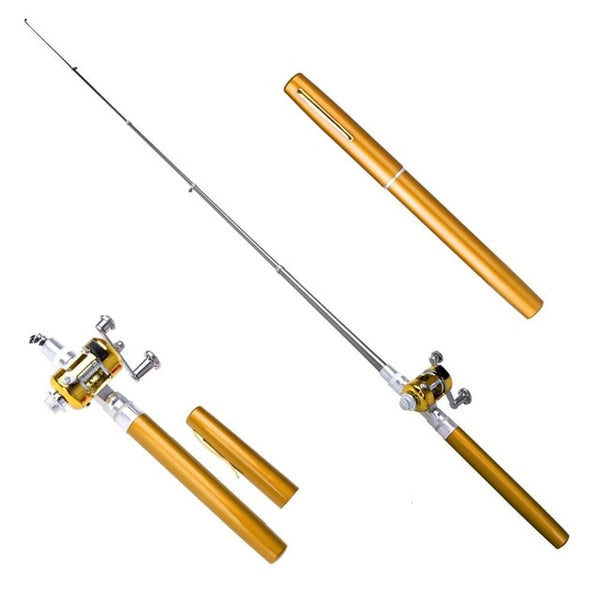 BRAND NEW Mini Telescoping Fishing Rod & Reel