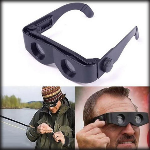 Portable Glasses Style Telescope Magnifier Binoculars For Fishing Hiking Concert Sport Supply Binoculars Fishing Telescope