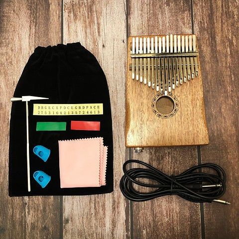 17 Key Kalimba African Solid Pine Mahogany Thumb Finger Piano Sanza Mbira Calimba Play with Guitar Wood Musical Instruments