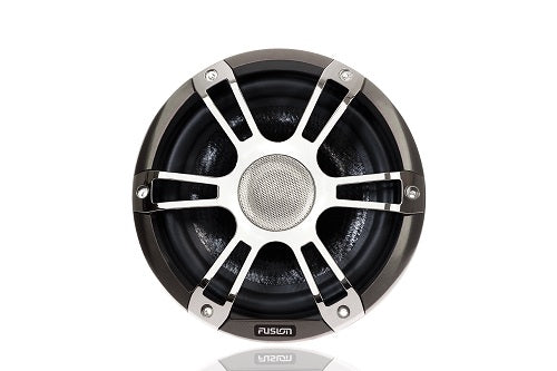 FUSION - Signature Speakers and Subwoofers - Series 2- CHROME/GREY SPORTS GRILL - 2 Dogs Marine